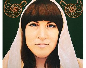 True Beauty - Alisha Gauvreau - ART PRINT - 8 x 10 - By Toronto Portrait Artist Malinda Prudhomme