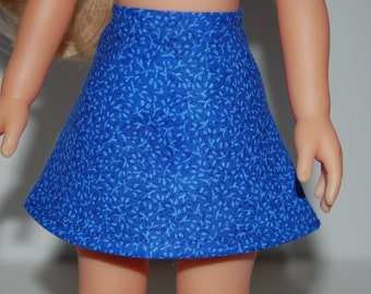 "Dark Blue A-Line Skirt Doll Clothes Corolle 13"" Les Cheries 14"" Hearts for Hearts Betsy McCall  tkct934"