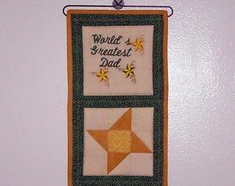Father's Day mini wall hanging, wire hanger included