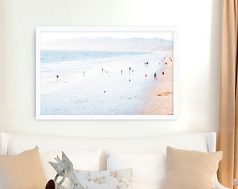 Large Beach Photography // Santa Monica Beach Print // California Print // Santa Monica Ocean Beach - Los Angeles Large Beach Print