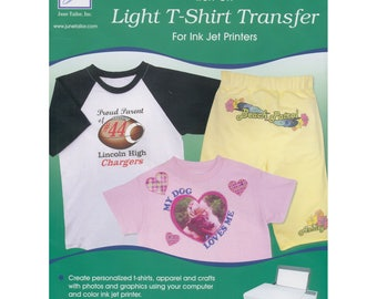 "Tee Shirt Transfer Paper, Transfer Paper, Iron On Paper - June Tailor - 3 sheets 8.5"" x 11""  JUTJT 856"