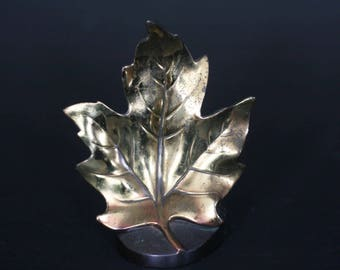 vintage maple leaf bookend