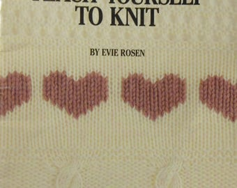 Vintage 1988 Teach Yourself To Knit Book
