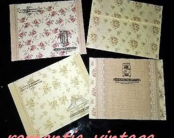 8 mini envelopes 9.8 * 7.5 cm vintage spirit