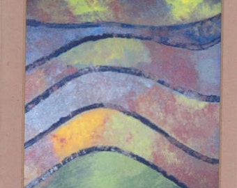Abstract Art Note Card - Untitled Number 110