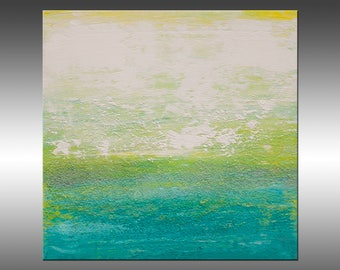 Views Of Nature 47- 8x8 Inch Original Contemporary Landscape Painting, Abstract Modern Artwork