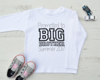 Promoted to Big Brother Shirt | Big Brother Shirt  | Big Brother Announcement | Promoted to Big Brother Top | Personalised