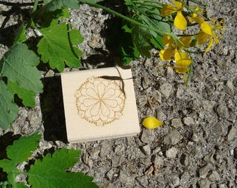 Custom rubber stamp flowers TC241
