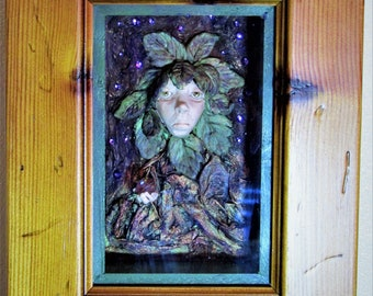 Lady of the forest shadow box