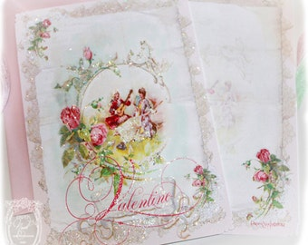 Chanson d'Amour Customizable Card or Invitation Envelopes and Heart Shaped Seals