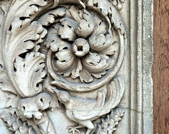 New York City Art, Stone Detail, NYC Photography, Flowers & Birds Wall Art, Architectural Art, Urban Art, City Photography, NYC Print