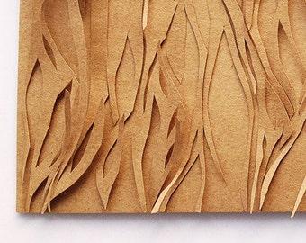 paper cutout | artwork 'a dense forest'