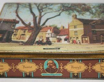 Vintage Sharps Toffee Tin - Shakespeare Detail - Scenes of Stratford on Avon