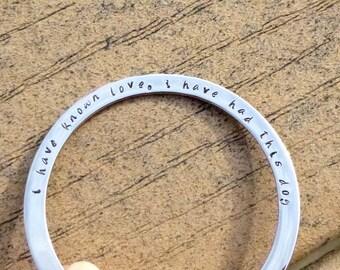 Dog Memorial Jewelry, Personalized, Stainless Steel Bracelet