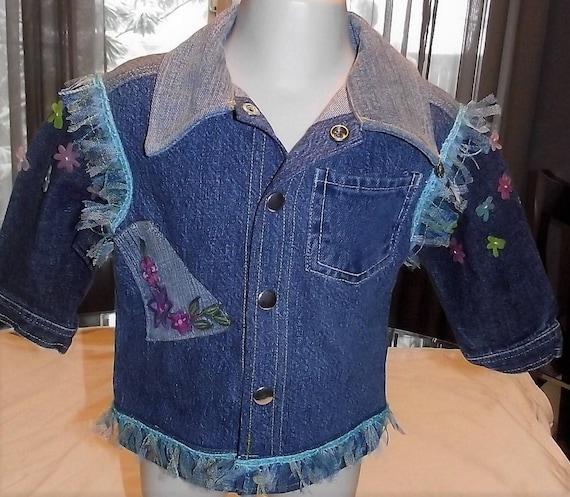 Denim Refurbished Jacket Girls, Size 18mo