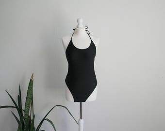 Vintage black one piece swimsuit