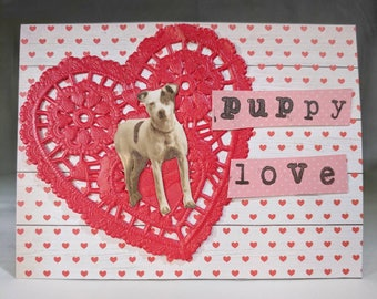 Puppy Love Valentine Card