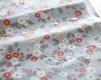 Floral Laminated Cotton Fabric 100cm / 39 inches - Cosmos