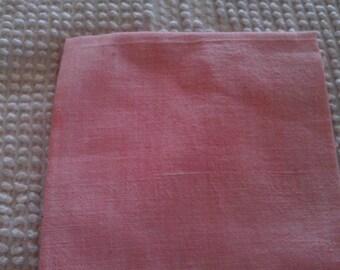 Vintage  Solid Color Floursack Quilting/Vintage Quilt Repair Lt. Rose