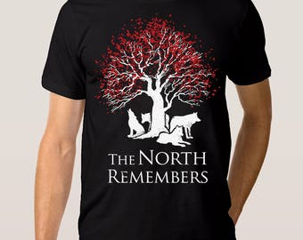 The North Remembers 'Game of Thrones' T-shirt, Men's Women's All Sizes