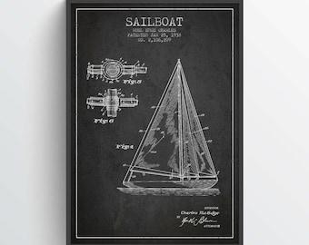 1938 Sailboat Patent Poster, Sailboat Poster, Sailboat Art Print, Patent Art Print, Patent Print, Wall Art, Home Decor, Gift Idea, NA07P