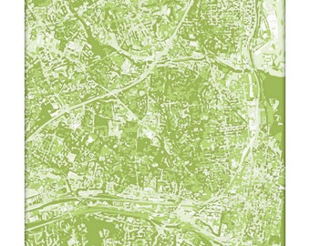 Alexandria VA Cityscape / Virginia Map Art Print City Wall Art / 8x10 Poster / Choose your color