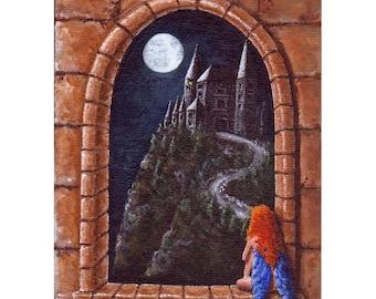Impression jet d'encre Twilight et la fée des fée Fantasy Art par RSalcedo FFAW