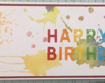 Happy Birthday Splat Card