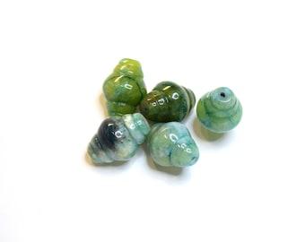 Blue SUGILITE gemstone - barrel (22x16mm) - Green - PSPSUTON2215VE001