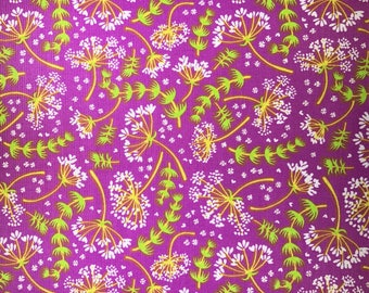 Purple fabric with flowers - Timeless Treasures - Samarra Khaja - Quilting Cotton Fabric - Choose your cut
