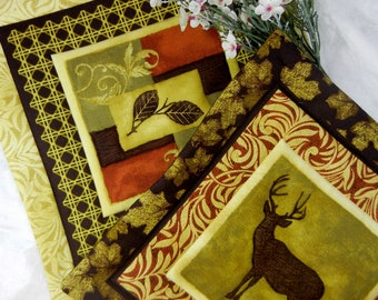 Quilted Cotton Fabric Trivets (2) Set #1 - Adirondack Life