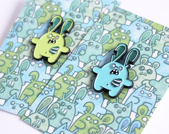 cute zombie enamel pin // zombies // lapel pin // enamel pins // creepy cute // kawaii pin // zombie bunny // halloween pin // cute zombie