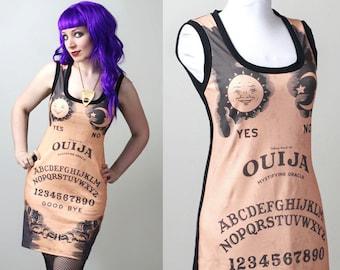 custom Ouija spirit board tank dress - smarmyclothes halloween gothic occult