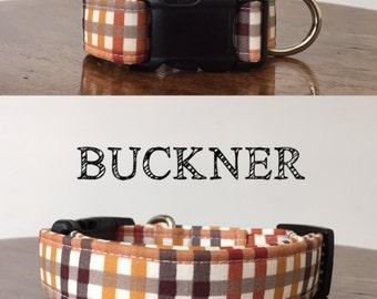 Buckner   Gingham Fall Inspired Handmade Collar