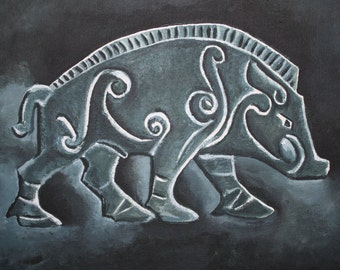 Pictish Boar Painting