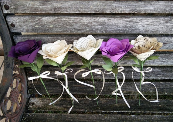 Single Roses. CHOOSE YOUR COLORS & Amount. Flower Girl, 1st Anniversary, Wedding Favor, Gift.