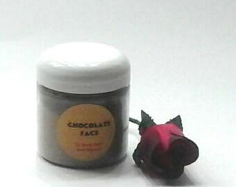 Chocolate Face Mask / Cocoa Mask / Chocolate Facial / Organic Face Mask / Clay Mask