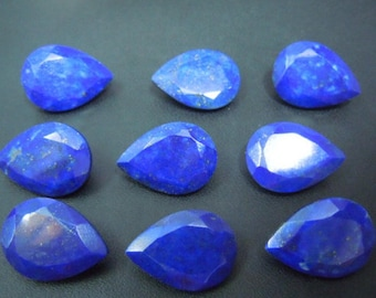Lapis Lazuli pear cut 25 pcs. lot AAA quality Natural Blue Lapis Lazuli pear cut faceted loose gemstone for jewelry