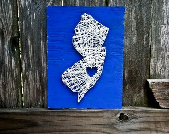 State String Art, String Art, Nail String Art, Nail and String Art, Custom Sign, Rustic Home Decor, Wooden sign, Rustic sign, Home Decor