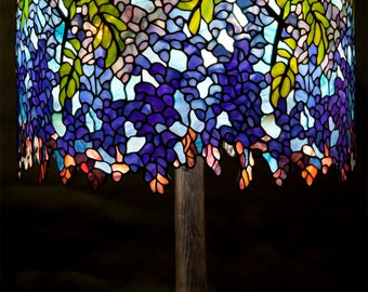 Tiffany lamp, Tiffany Wisteria, Bespoke Glass, Stained glass, Home decor, Wisteria, Tiffany replica, Desk lamp, Table lamp, Standing lamp