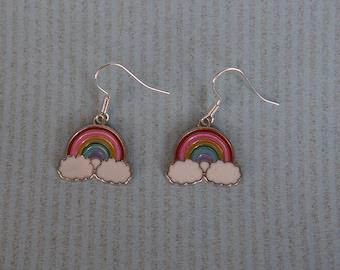 Earrings rainbow on the cloud