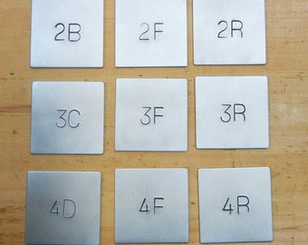 Metal room numbers-Custom number signs