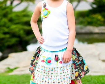 Tea Party Apron Skirt and Top Sewing Pattern