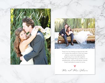 Printable Two Sided Thank You Photo Card