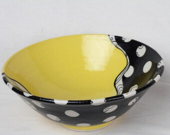 Serving bowl,  decorative bowl, ceramic bowl, pasta bowl, salad bowl,  gift,