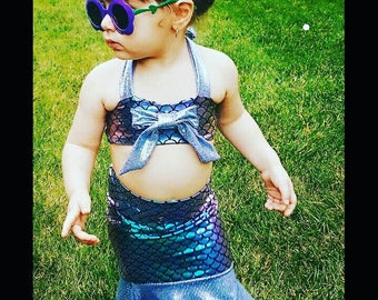 Mermaid swim/coverup with matching top set
