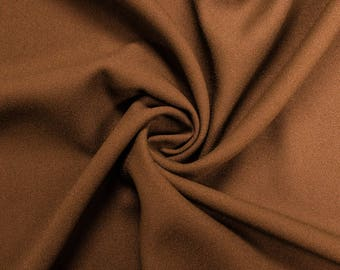 """Sequida Brown 60"""" Poly Crepe Fabric by the Yard - Style 3060"""
