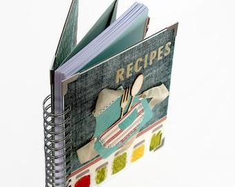Blank Recipe Book - Gift For Wife - Family Recipe Binder - Housewarming Gift - Recipe Notebook - Hostess Gift - Bridal Shower Gift
