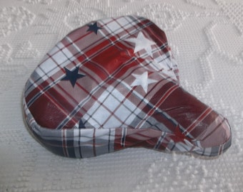 Red, White and Blue Stars  Crusier  Bike or Bicycle All Weather  Seat Cover
