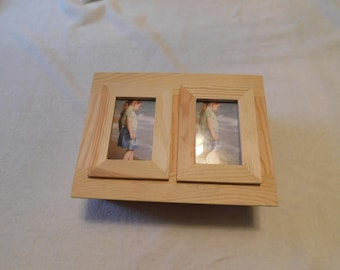 I run 4 wooden medal keepsake photo box